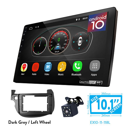 """10"""" Android 10 Car Stereo + Fascia Kit for HONDA Fit, Jazz 2008-2013"""