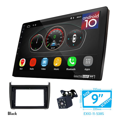 "9"" Android 10 Car Stereo + Fascia Kit for VOLKSWAGEN Polo 2009+"