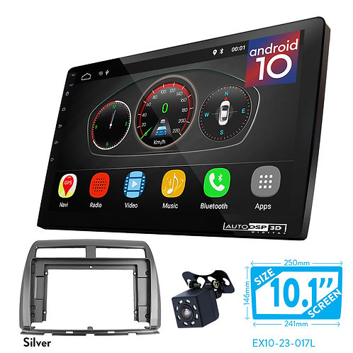 "10"" Android 10 Car Stereo + Fascia Kit for PERODUA MyVi (II)2015+"