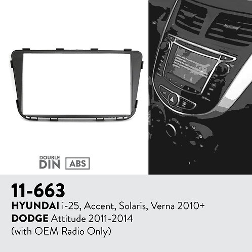 11-663 Compatible with HYUNDAI i-25, Accent, Solaris, Verna 2010+ / DODGE At