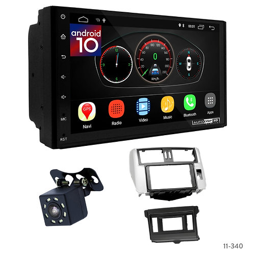 "7"" DSP Car Radio+Fascia Kit Compatible with Toyota Land Cruiser Prado (150) 09-1"
