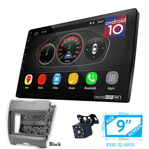"""9"""" DSP Car Radio+Fascia Kit Compatible with Ford Edge 2015+"""