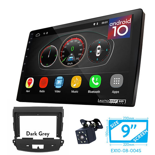 "9"" Android 10 Car Stereo + Fascia Kit for MITSUBISHI Outlander/CITROEN C-Crosser"