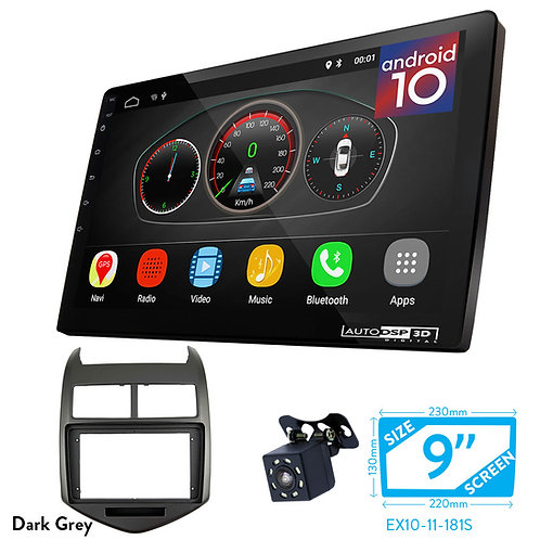 """9"""" DSP Car Radio+Fascia Kit Compatible with CHEVROLET Aveo, Sonic / HOLDEN Barin"""