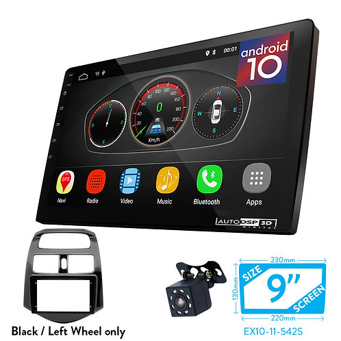 """9"""" Android 10 Car Stereo + Fascia Kit for CHEVROLET Spark (M300) 2013-2015"""