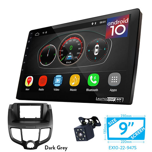 """9"""" DSP Car Radio+Fascia Kit Compatible with HONDA Odyssey (RB1/RB2) 2003-2008"""