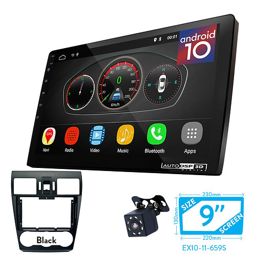 """9"""" Android 10 Car Stereo + Fascia Kit for SUBARU Forester 2012-2016;"""