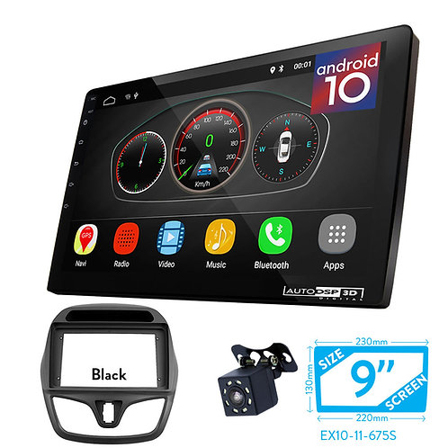 """9"""" Android 10 Car Stereo + Fascia Kit for CHEVROLET Spark, Beat 2015+"""