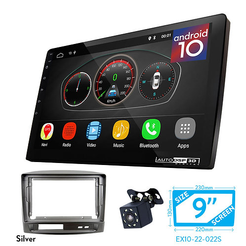 """9"""" DSP Car Radio+Fascia Kit Compatible with TOYOTA Vios 2002-2007"""