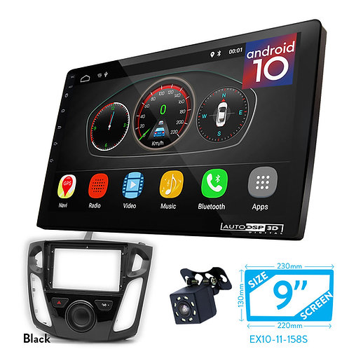 """9"""" DSP Car Radio+Fascia Kit Compatible with Ford Focus 2011+"""