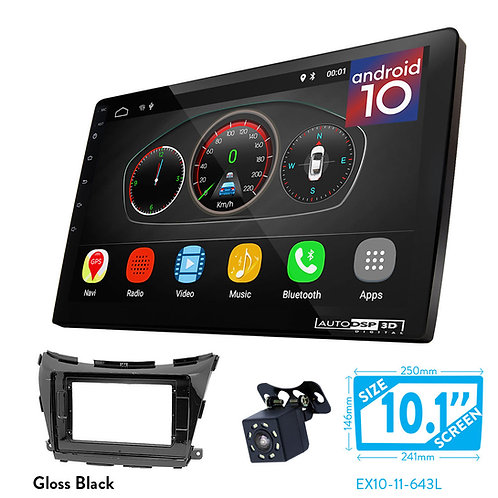 "10"" DSP Car Radio+Fascia Kit Compatible with NISSAN NP300, Navara, Frontier 14-1"