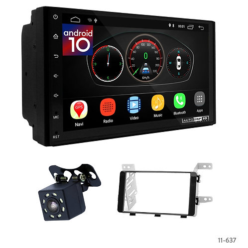 """7"""" DSP Car Radio+Fascia Kit Compatible with Mitsubishi L0, Pajero Sport, Triton"""