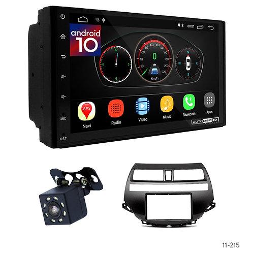 "7"" DSP Car Radio+Fascia Kit Compatible with Honda Accord 08-12; Crosstour 10-12"
