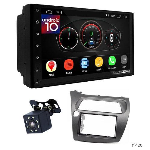 "7"" DSP Car Radio+Fascia Kit Compatible with Honda Civic 06-11"