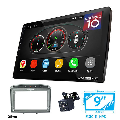 "9"" DSP Car Radio+Fascia Kit Compatible with PEUGEOT (308) 20(408) 2011+"