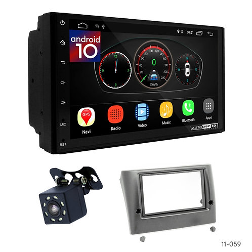 "7"" DSP Car Radio+Fascia Kit Compatible with Fiat Stilo 01-07"
