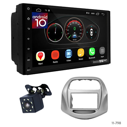 """7"""" DSP Car Radio+Fascia Kit Compatible with Chevrolet Spark GT, Beat 18+"""