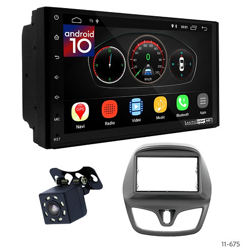 """7"""" DSP Car Radio+Fascia Kit Compatible with Chevrolet Spark, Beat 15+ / Daewoo M"""