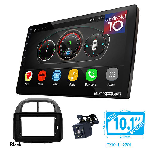 "10"" DSP Car Radio+Fascia Kit Compatible with SUBARU Justy 20/ TOYOTA Passo"
