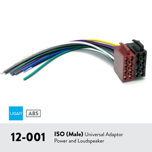 UGAR 12-001 ISO (Male) / UNIVERSAL ADAPTER POWER AND LOUDSPEAKER