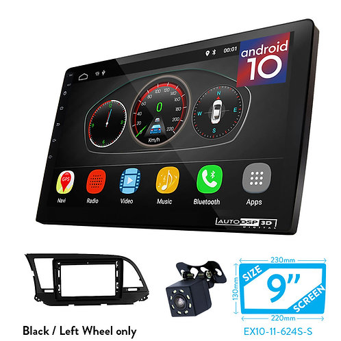 "9"" DSP Car Radio+Fascia Kit Compatible with HYUNDAI Elantra (AD) 2016-2018,"
