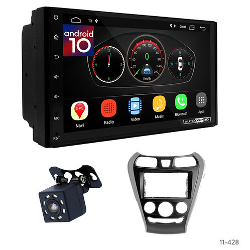"7"" DSP Car Radio+Fascia Kit Compatible with Hyundai EON 11+"