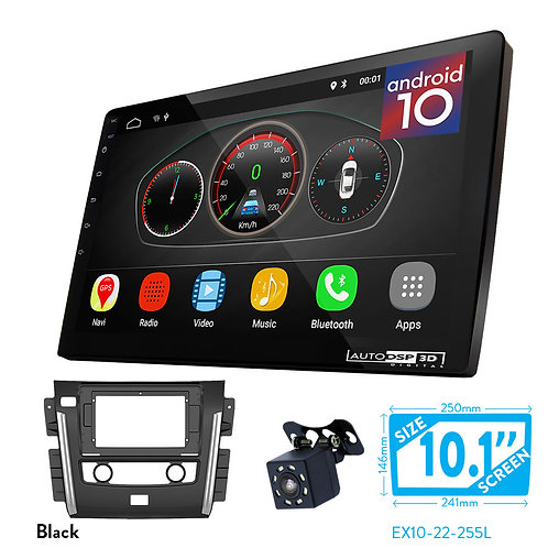 "10"" Android 10 Car Stereo + Fascia Kit for NISSAN Patrol (Y62) 2015+"
