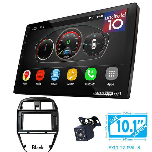 """10"""" Android 10 Car Stereo + Fascia Kit for NISSAN Sunny, Versa (B17) 2014+"""