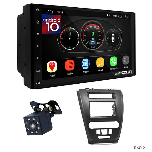"""7"""" DSP Car Radio+Fascia Kit Compatible with Ford Fusion 09-12"""
