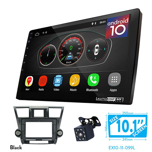 """10"""" Android 10 Car Stereo + Fascia Kit for TOYOTA Highlander 20Kluger 2008-2014"""