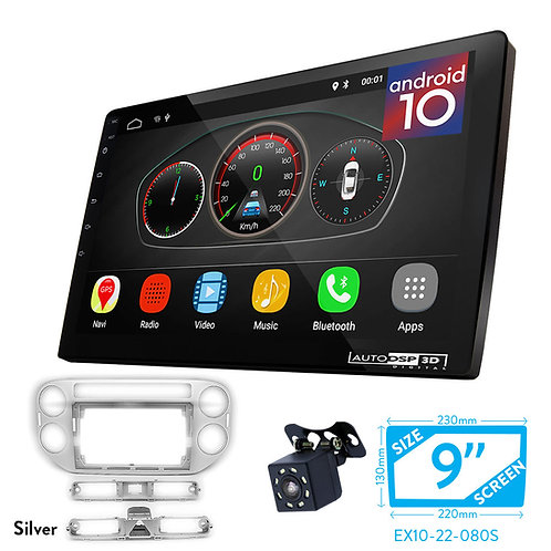 "9"" Android 10 Car Stereo + Fascia Kit for VOLKSWAGEN Tiguan 2011-2016"