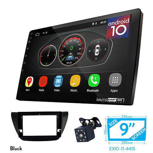 "9"" Android 10 Car Stereo + Fascia Kit for MITSUBISHI Lancer IX 2000-2010"