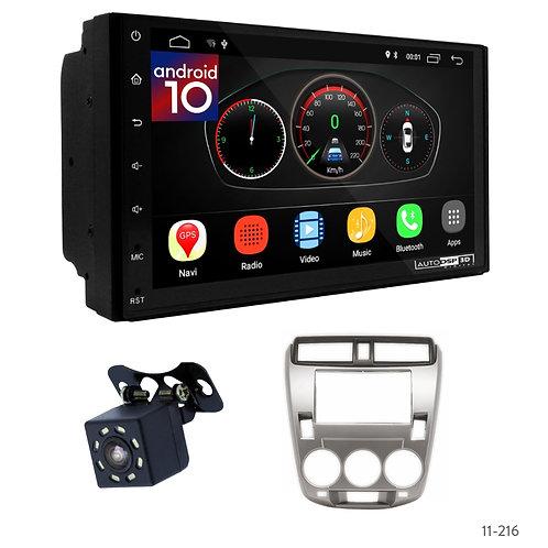 "7"" DSP Car Radio+Fascia Kit Compatible with Honda City 08-14; Ballade 11-14"
