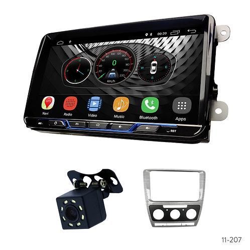 "VW-B 9"" Car Stereo Radio Plus 11-207 Fascia Kit for Skoda Octavia 2008-2013"