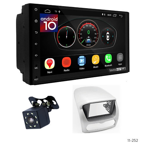 "7"" DSP Car Radio+Fascia Kit Compatible with Citroen C-Zero/Peugeot iOn/Mitsubish"