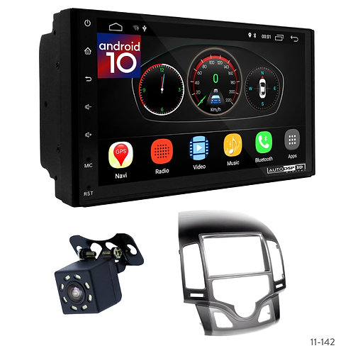 "7"" DSP Car Radio+Fascia Kit Compatible with Hyundai i-30 (FD) 08-11"