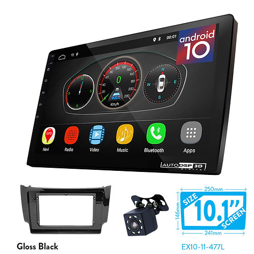 "10"" DSP Car Radio+Fascia Kit Compatible with NISSAN Sylphy, Sentra; Tiida (C13R)"