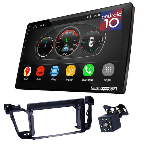 "9"" Android 10 Car Stereo + Fascia Kit for PEUGEOT (508) 2011-2017"
