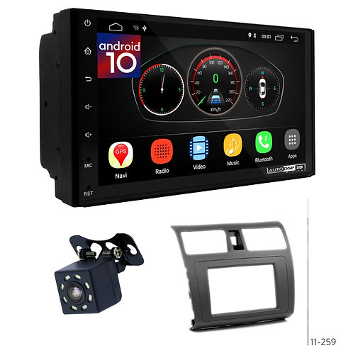 "7"" DSP Car Radio+Fascia Kit Compatible with Suzuki Swift; Dzire"