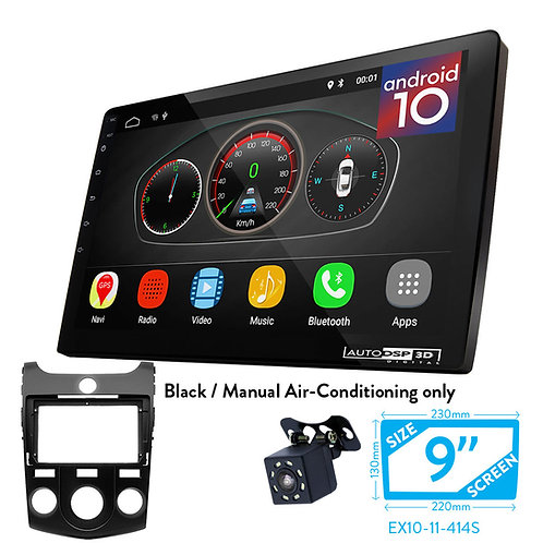 "9"" Android 10 Car Radio+Fascia Kit Compatible with KIA Cerato,Naza Forte 20(Manu"