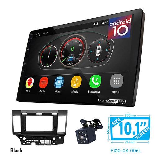 "10"" DSP Car Radio+Fascia Kit Compatible with MITSUBISHI LancerX, Galant Compatib"