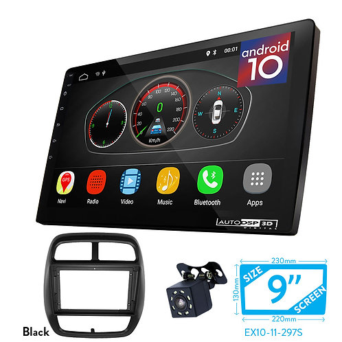 """9"""" Android 10 Car Stereo + Fascia Kit for RENAULT Kwid 2017+"""