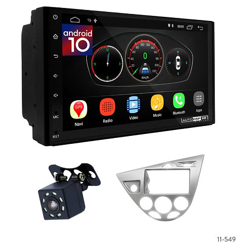 "7"" DSP Car Radio+Fascia Kit Compatible with Ford Focus 1998-04"