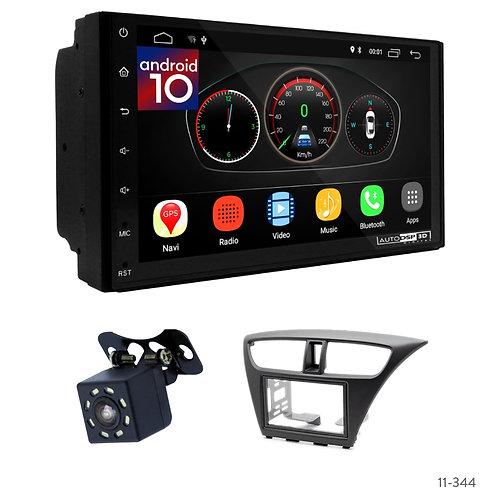 "7"" DSP Car Radio+Fascia Kit Compatible with Honda Civic 12+"