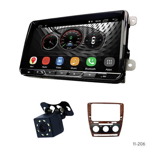 "VW10-S 9"" Car Radio+Fascia Kit Compatible with Skoda Octavia 2008-2013"