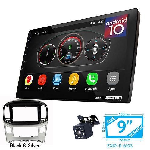 "9"" Android 10 Car Stereo + Fascia Kit for HYUNDAI H-1, Starex, i800, iLoad, iMax"