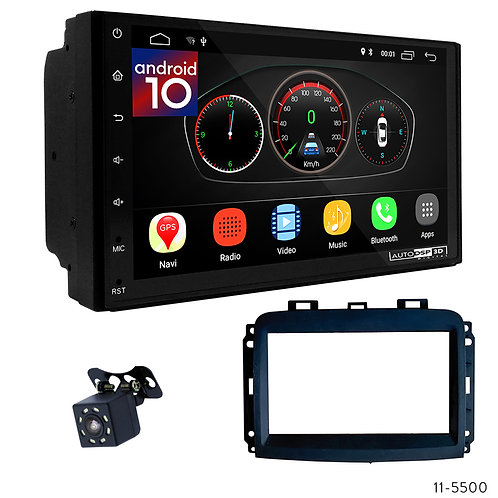 "7"" DSP Car Radio+Fascia Kit Compatible with Fiat (500L) 2019"