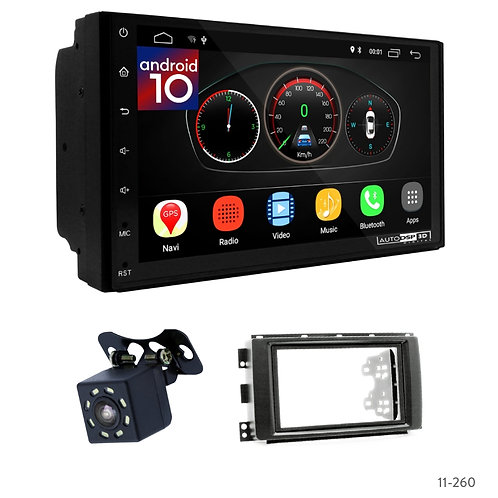 """7"""" DSP Car Radio+Fascia Kit Compatible with Smart Compatible withTwo (BR451) 07-"""