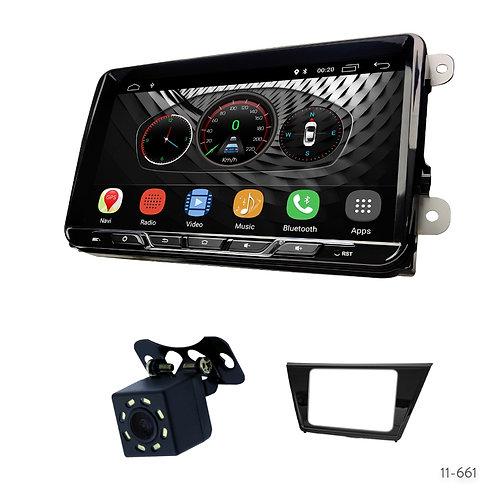 "VW10-S 9"" Car Radio+Fascia Kit Compatible with Volkswagen Touran 2015+"