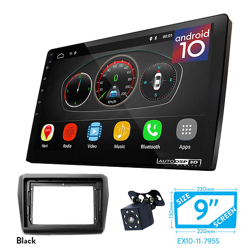 "9"" Android 10 Car Stereo + Fascia Kit for SUZUKI Swift 2017+"